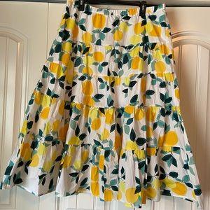 Who What Wear Lemon Skirt